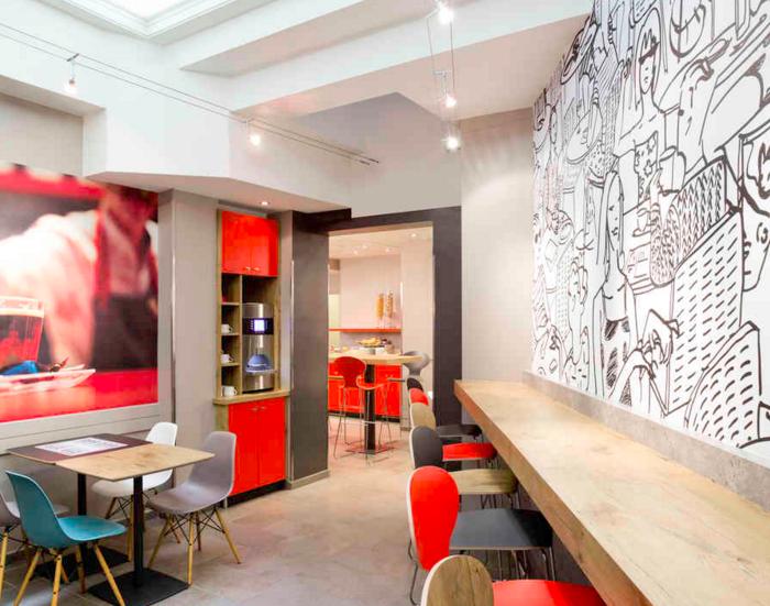 espace de coworking dans un h tel gare du nord paris. Black Bedroom Furniture Sets. Home Design Ideas